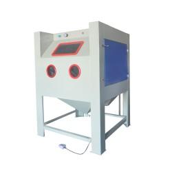 1212手动干式喷砂机焊接工件表面处理打沙机环保无尘除锈机