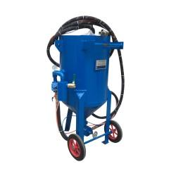 钢结构工地除锈抛光喷砂机去油漆开放式砂水混合移动喷砂机