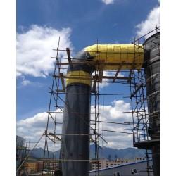 岩棉卷毡高温炉体保温防腐工程不锈钢消防管道保温防腐施工