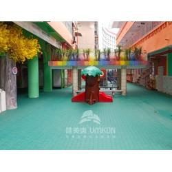 广州幼儿园悬浮地板大方格弹性拼装地板